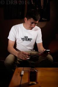 man in skateboarding t-shirt