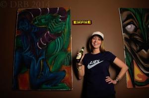 girl in skateboard t-shirt