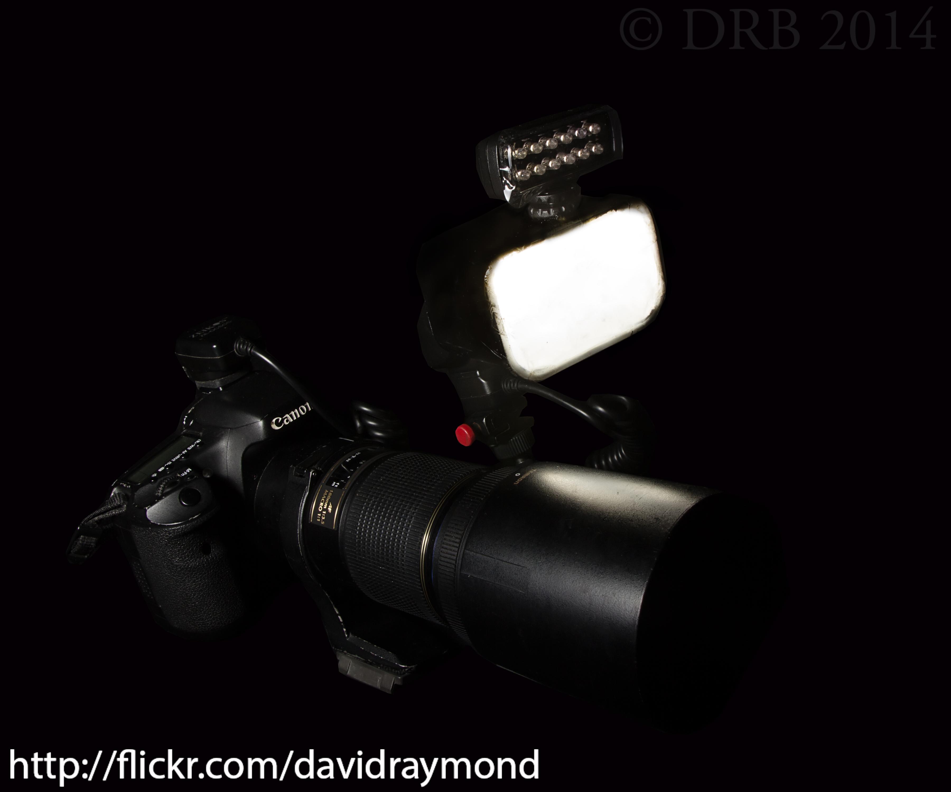 Macro flash and video LED setup