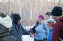 Hiking group on trail. Winter Solstice 2016 Hike by the Morris County Park Commission